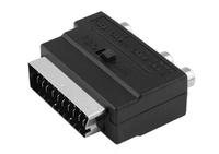Переходник SCART-3RCA с переключателем